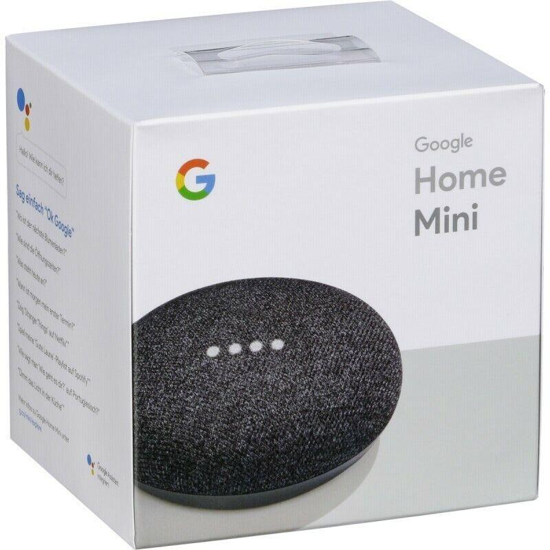 Google Home Mini Assistant  Smart Small Speaker - Charcoal -