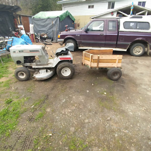 Heavy duty trailer for quad or lawn tractor.   r