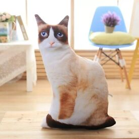 !wholesale 3D Simulation Cat Pillow Cute Cat Doll Cushion Throw Pillow