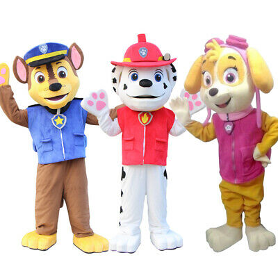 Paw Patrol Costume Animal Character Dog Mascot Costume Fancy Dress Adult Size