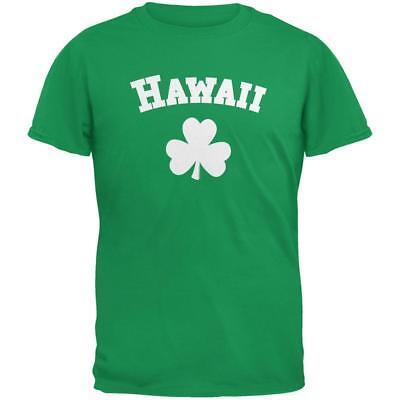 St. Patrick's Day - Hawaii Shamrock Irish Green Adult T-Shirt