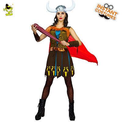 New Adult Women Cool Viking Vixen Barbarian Warrior Princess Cosplay Fancy dress