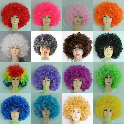 Multi Color Afro Wig Clown Disco Circus Costume Curly Hair Wig Adult Child - Kids Clown Wig