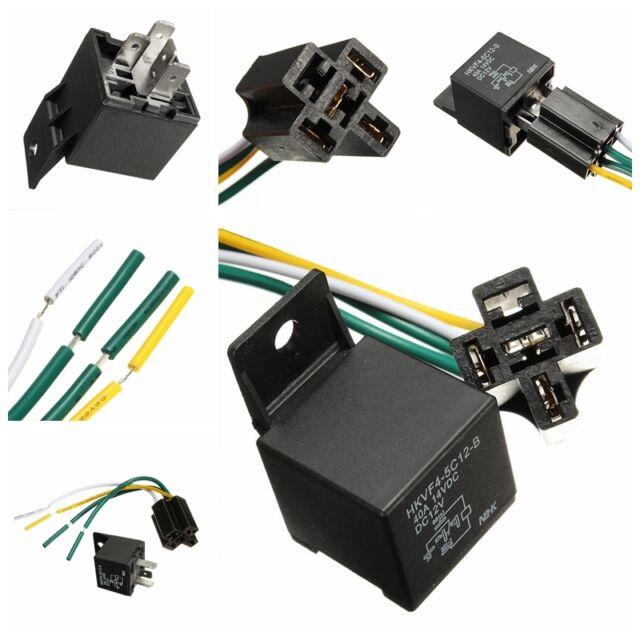 Car Auto DC 12V Volt 30/40A Automotive 4 Pin 4 Wire Relay & Socket 30amp/40amp X