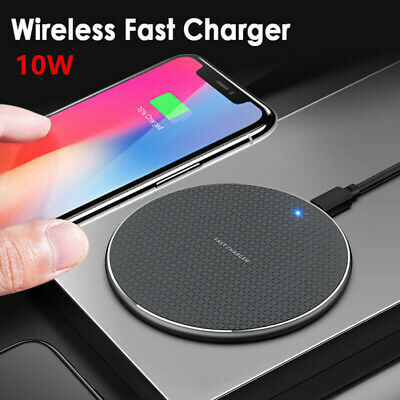 QI Fast Wireless Charger Charging Pad Mat for Apple iPhone 11 XS Max Xr X 8 Plus