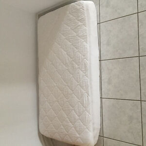 Crib mattress with  mattress cover