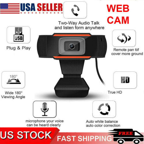 Webcam Auto Focusing Web Camera 1080P HD Cam Microphone For PC Laptop Desktop