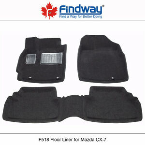 All weather 3D Car Floor Mats/Liners for 2007-2012 Mazda CX-7