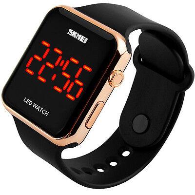 Armbanduhr Herren Damen Kinder Schwarz/Bronze Digitaluhr Sportuhr Wasserdicht