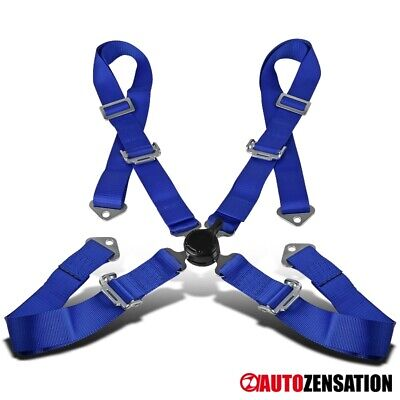 4 Point 4pt Camlock Safety Harness Racing Seat Belt Blue for sale  Shipping to Canada