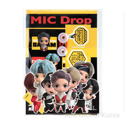 BTS TinyTAN Sticker Pack SET MIC Drop Pouch Deco Character Official Goods Korea