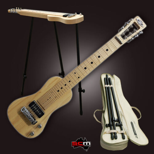 NEW! Lap Steel Guitar 6 string American Swamp Ash Body includes Stand & Gig Bag