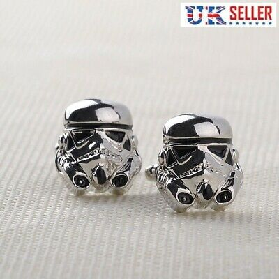 Stormtrooper Cufflinks - Storm Trooper Star Wars Darth Vader - Free Gift Bag UK