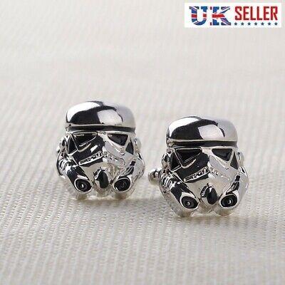 Stormtrooper Cufflinks - Storm Trooper Star Wars Darth Vader - Free Gift Bag UK