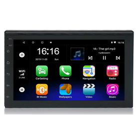 CAR MP3 PLAYER FM GPS WIFI ANDROID 1080p HD 2 DIN 7INCH