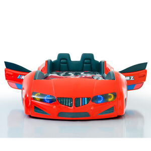 BMW car beds for kids - Leather SEAT, Opening doors, Full Leds