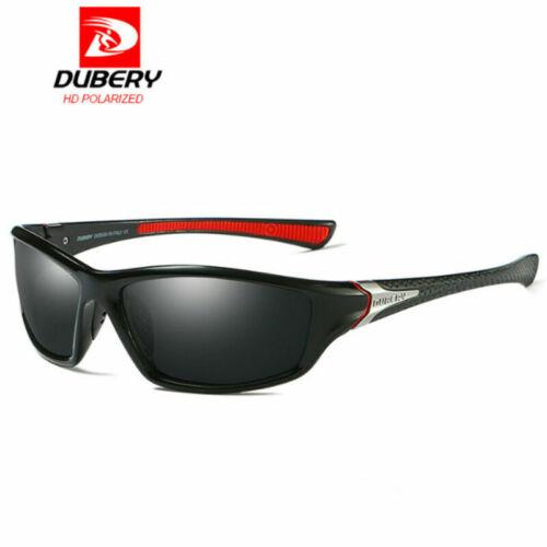 DUBERY Herren Sonnenbrille Polarisiert Brillen Sport UV400 Pilotenbrille Schwarz