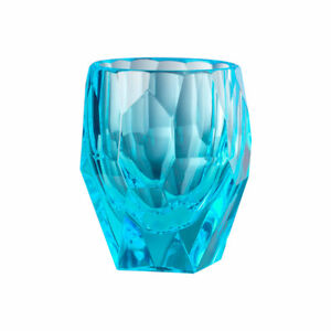 Milly synthetic crystal tumblers by Marioluca Giusti of Florence