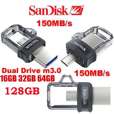 SanDisk 16/32/64/128GB OTG Ultra Dual M3.0 USB3.0 Flash Drive Memory Stick lot