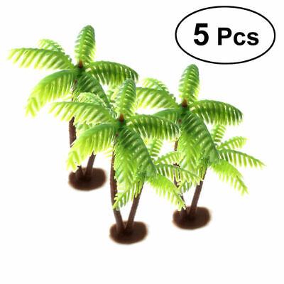 Plastic Palm Tree Miniature Plant Pots Bonsai Craft Micro Landscape DIY Decor - Plastic Palm Tree Decorations
