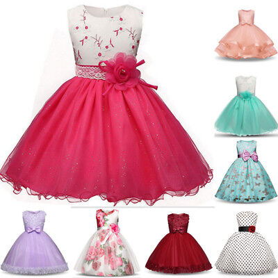 Princess Kids Baby Girl Dress Bridesmaid Party Pageant Wedding Dress Clothes - Winter Dress Girls