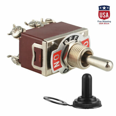 Heavy Duty 20a125v Momentary Dpdt On-off-on Toggle Switch Wwaterproof Boot