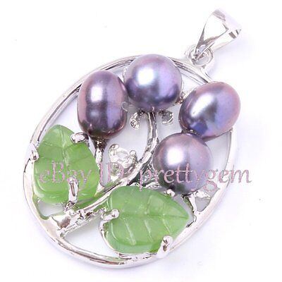 6-8MM OVAL NATURAL FRESHWATER PEARL&WHITE GOLD PLATED PENDANT 1 PCS,PICK COLOR