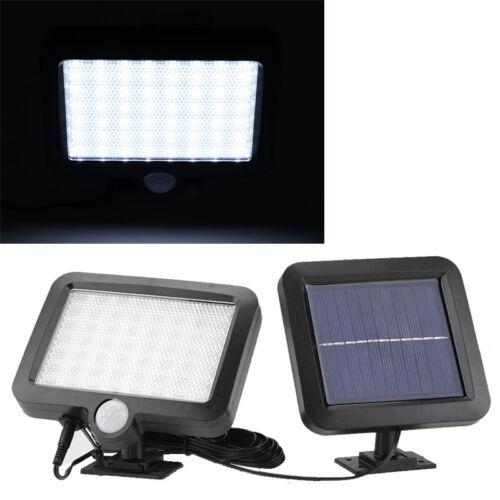 Außen 56 LED Solar Solarleuchte Gartenleuchte Lampe mit Bewegungsmelder 3W DO