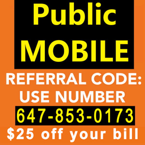 $25 Referral Public mobile Code - LIMITED TIME ONLY!