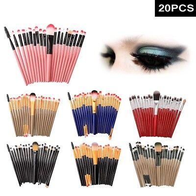 (20 Pro Makeup Brushes Set Foundation Powder Eyeshadow Eyeliner Lip Brush Tool)