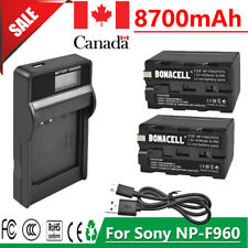 8700mAh NP-F960 Battery / Charger for Sony NP-F970 NP-F975 NP-F550 NP-F750 GM