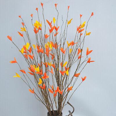 Autumn Leaf Decorations (Home Decoration Plastic Branches Artificial Plants Dried Tree Autumn Leaf)