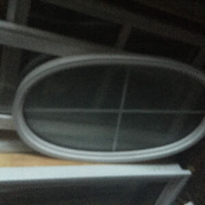 Frosted Oval Window