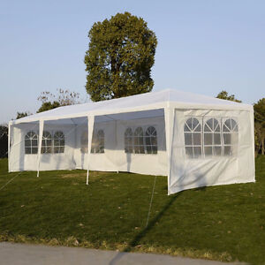 NEW 10X30 WEDDING PARTY TENT CANOPY W/5 SIDE WALLS