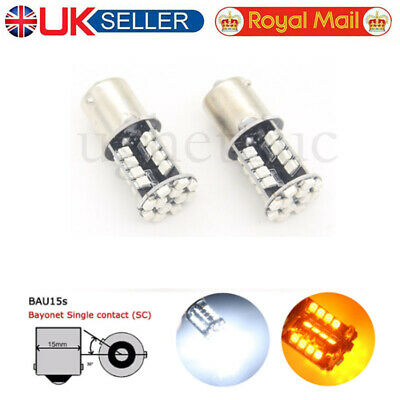 2x PY21W 581 BAU15S 44 LED Bulbs Canbus Front Rear Side Indicator Signal Light