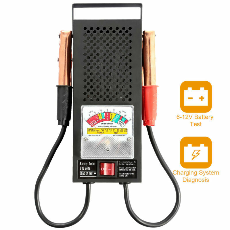 6-12v Car Motorcycle Auto Battery Tester Alternator Load Vehicle Display Tool US