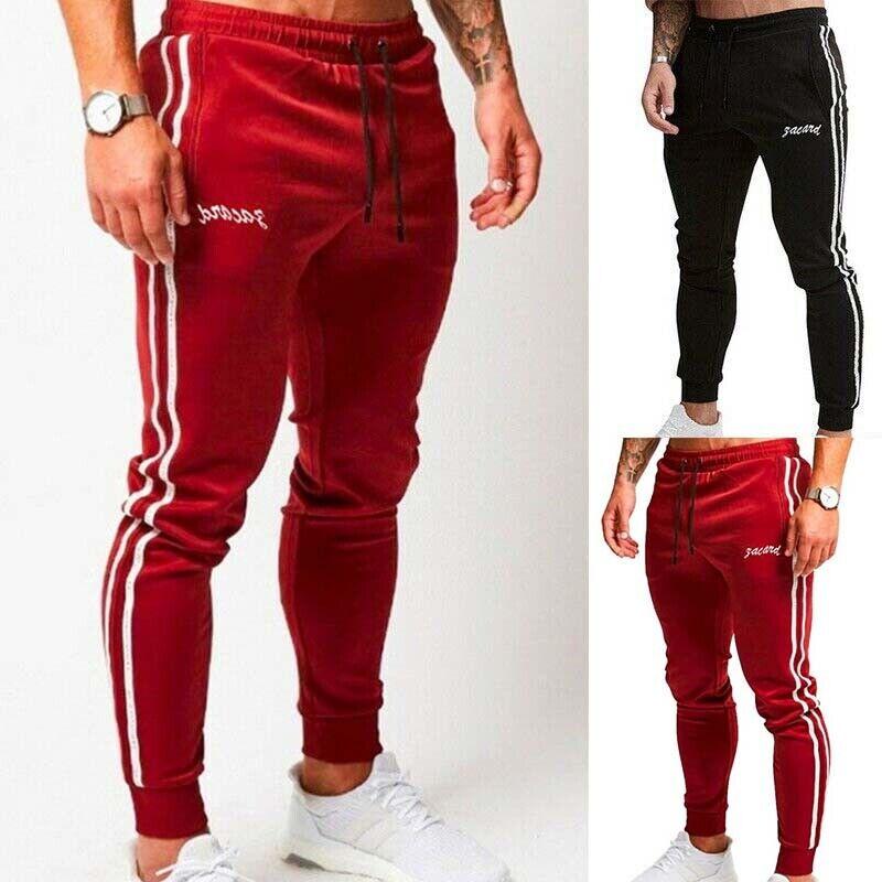 Long Casual Pants Slim Fit Joggers Sweatpants Trousers Gym  Men Sports Running