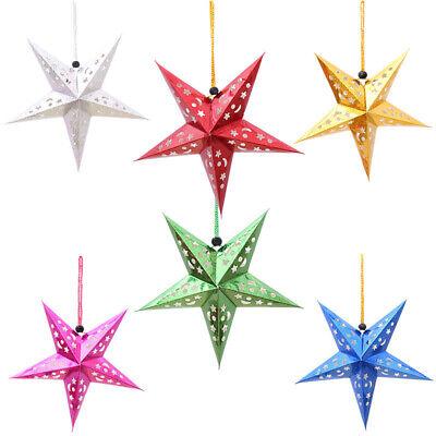 30/45/60/90cm Weihnachten Pentagramm Stern Schnur Baum Hängend Fenster Party