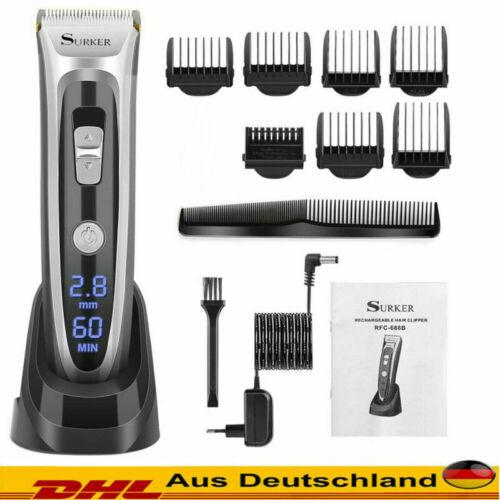 Profi Keramik Haarschneidemaschine Bartschneider Trimmer Rasierer Led Display Ed