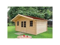 44 mm, 19 x 16' (6 x 5 m) Log Cabin | Free Shingles | Free delivery