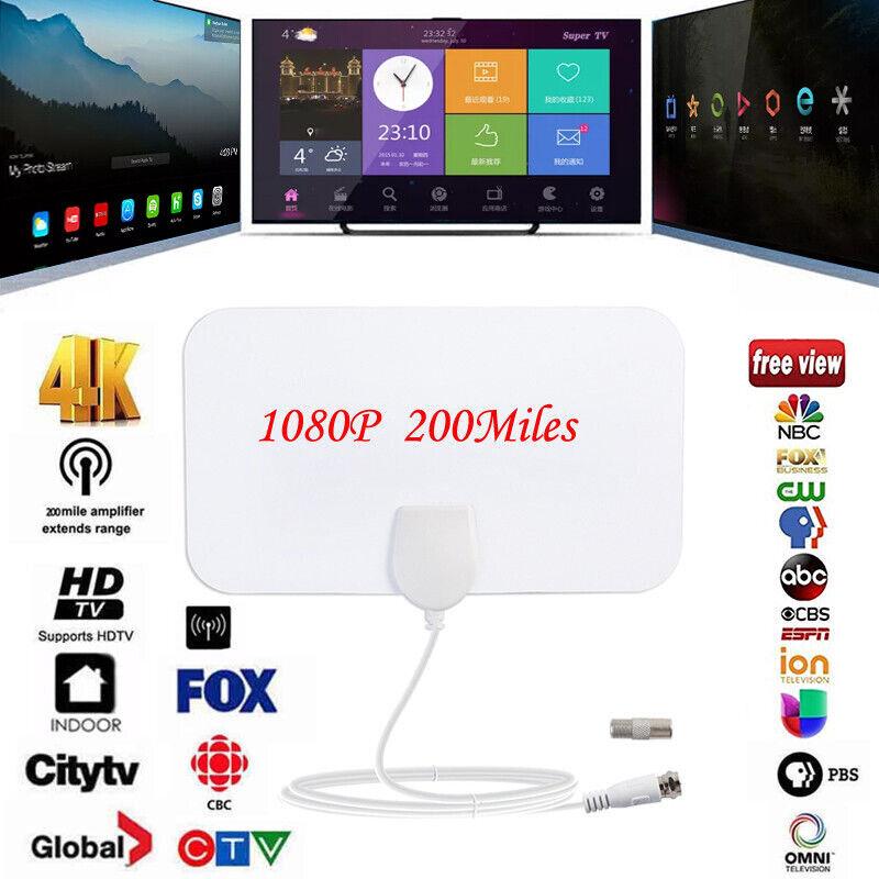 200 Mile Range Antenna Indoor TV Digital Mini Antennas HD Sk