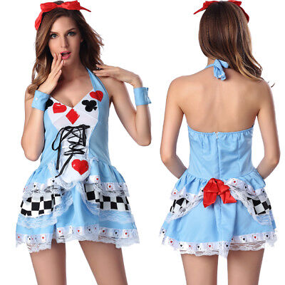 Halloween Costumes Wonderland (ALICE IN WONDERLAND COSTUME SEXY Outfits Fancy Dress HALLOWEEN Cosplay)