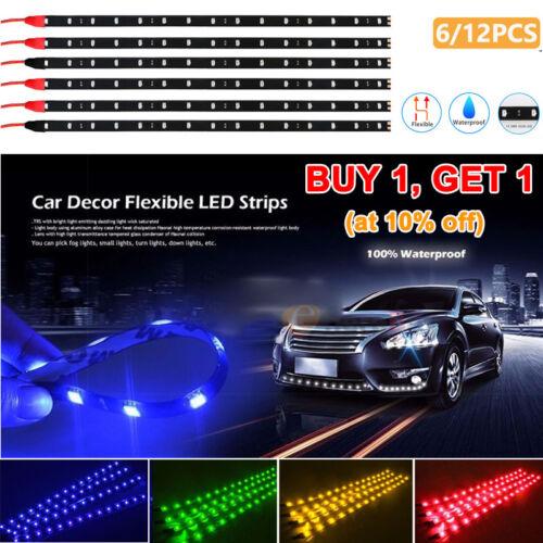 Waterproof Motor LED Strip Underbody Light For Car Motorcycle 12/'/'//15 DC12V US