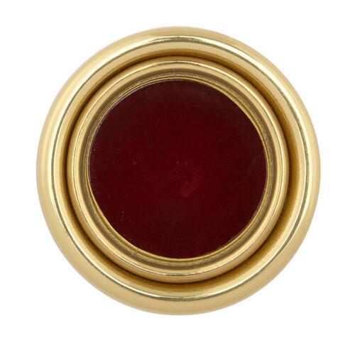 Round Plain Brass Personal Reliquary
