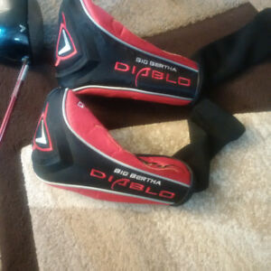 LH Calloway Diablo 10* Drive (Draw) & 3 wood (w/head covers)BOTH