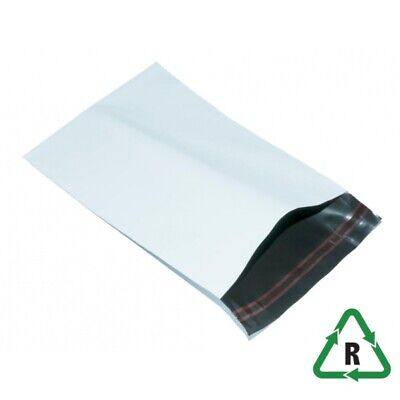 White Mailing Bags POSTAL ENVELOPES 12 x 16, 305 x 406 + Lip Qty 50 UK SEL 60mu