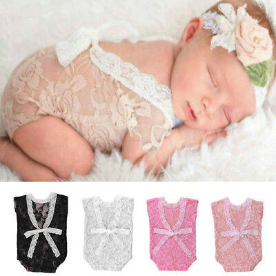 Princess Costumes For Baby Girl (Newborn Baby Girl Bowknot Lace Romper Photography Props Princess Costumes)