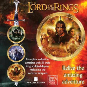 Limited edition Lord of the rings plates and swords