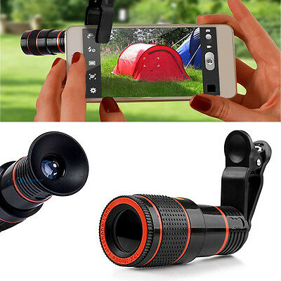 12X Zoom Telescope Camera Clip On Lens For Smartphone Mobile Iphone Samsung Note