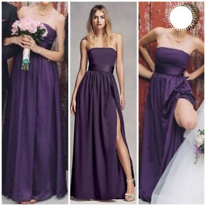 Vera Wang Amethyst Strapless Bridesmaid Dress - Size 0